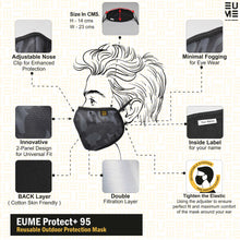 +95 Camo Black Face Mask by EUME