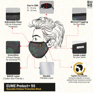 +95 Camo Green Face Mask by EUME