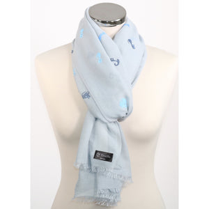Pure cotton scarf with cat print