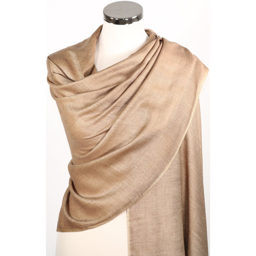 Reversible pashmina/wrap/scarf in shades of beige