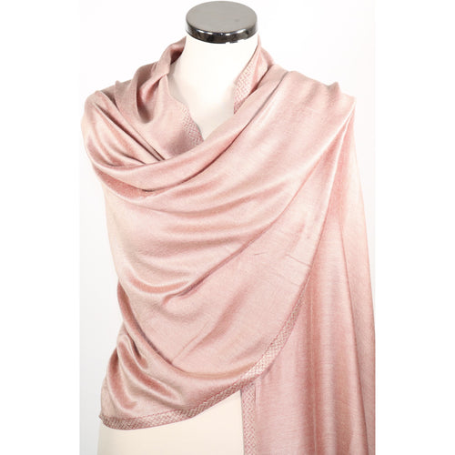 Reversible modal scarf/pashmina/wrap in 2 shades of pink