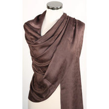 Modal pashmina/wrap/scarf with floral design in grain - variety of colours