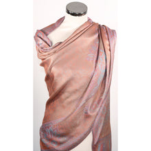 Modal scarf with floral design in rustic pink