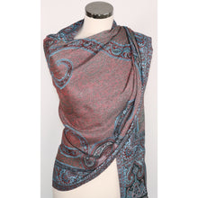 Reversible Viscose Scarf With Abstract Pattern