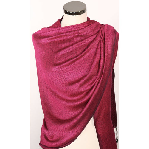 Reversible modal pashmina/wrap/scarf in shades of pink