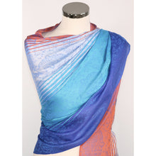 Modal Scarf In Blue & Orange