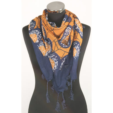 Pure Cotton Square Pattern Scarf (7 Colours)
