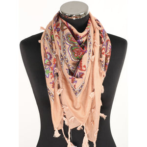 Peach cotton scarf