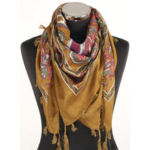 Olive cotton scarf