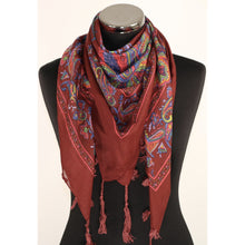 Burgundy cotton scarf