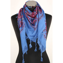 Blue cotton scarf