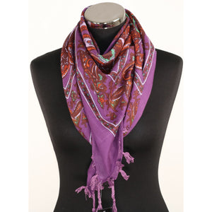 Purple cotton scarf