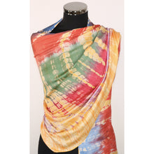 Poly Silk Scarf With Tie Dye Effect