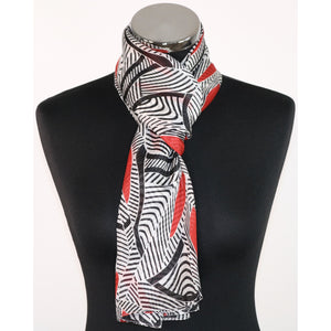 Pure Silk Abstract Pattern Scarf (3 Colours)
