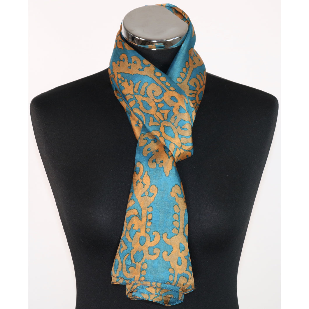 Pure Silk Abstract Pattern Scarf
