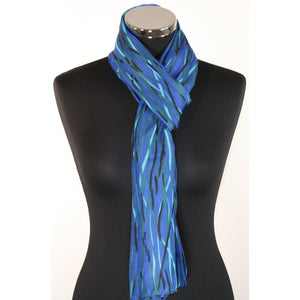 Pure silk scarf with abstract design