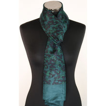 Pure silk design scarf available in burgundy or green
