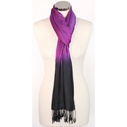 Black &  Purple Scarf