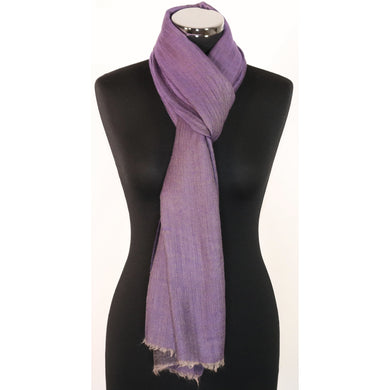 Reversible Cashmere Scarf/Pashmina In Shades Of Purple