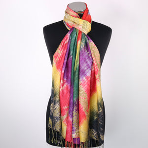 Scarf With Tie Dye Effect