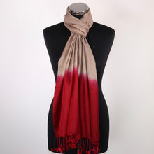 Beige & Red Scarf