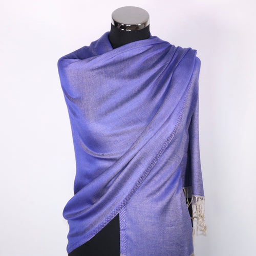 Reversible Pashmina Scarf- Purple