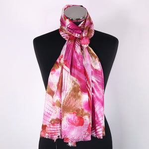 Pure Cotton Abstract Design Scarf