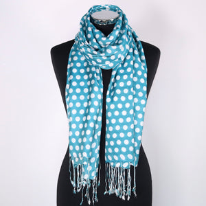 Silk Modal Blend Scarf With Dots