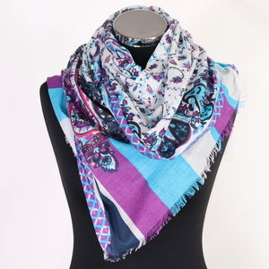 Pure Cotton Scarf With Design