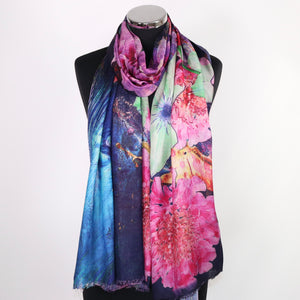Scarf With Digital Floral Print