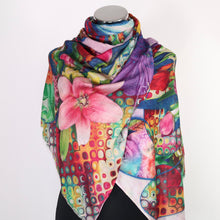 Scarf With Abstract Digital Print