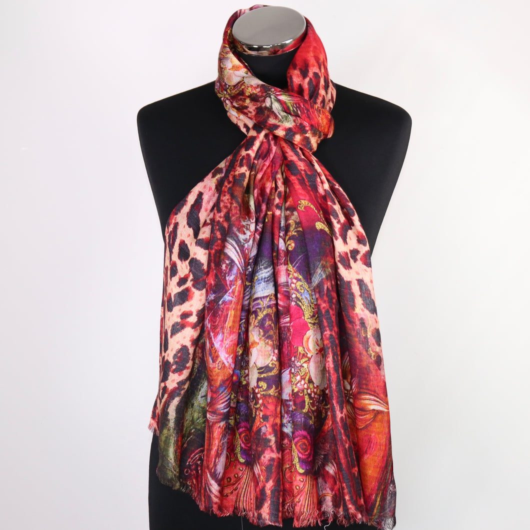 Scarf With Abstract Print