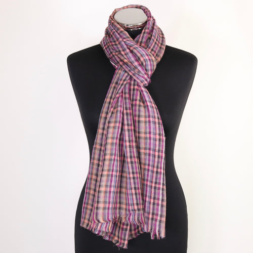 Brooke Checkered Wool Scarf