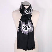 Cashmere Scarf With Peacock Design in Foil