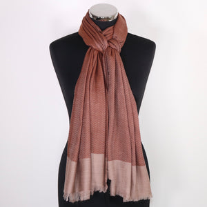 Cashmere Scarf With Border