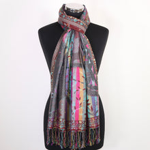 Reversible Multicoloured Viscose Scarf
