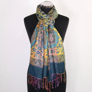 Reversible Multicoloured Scarf