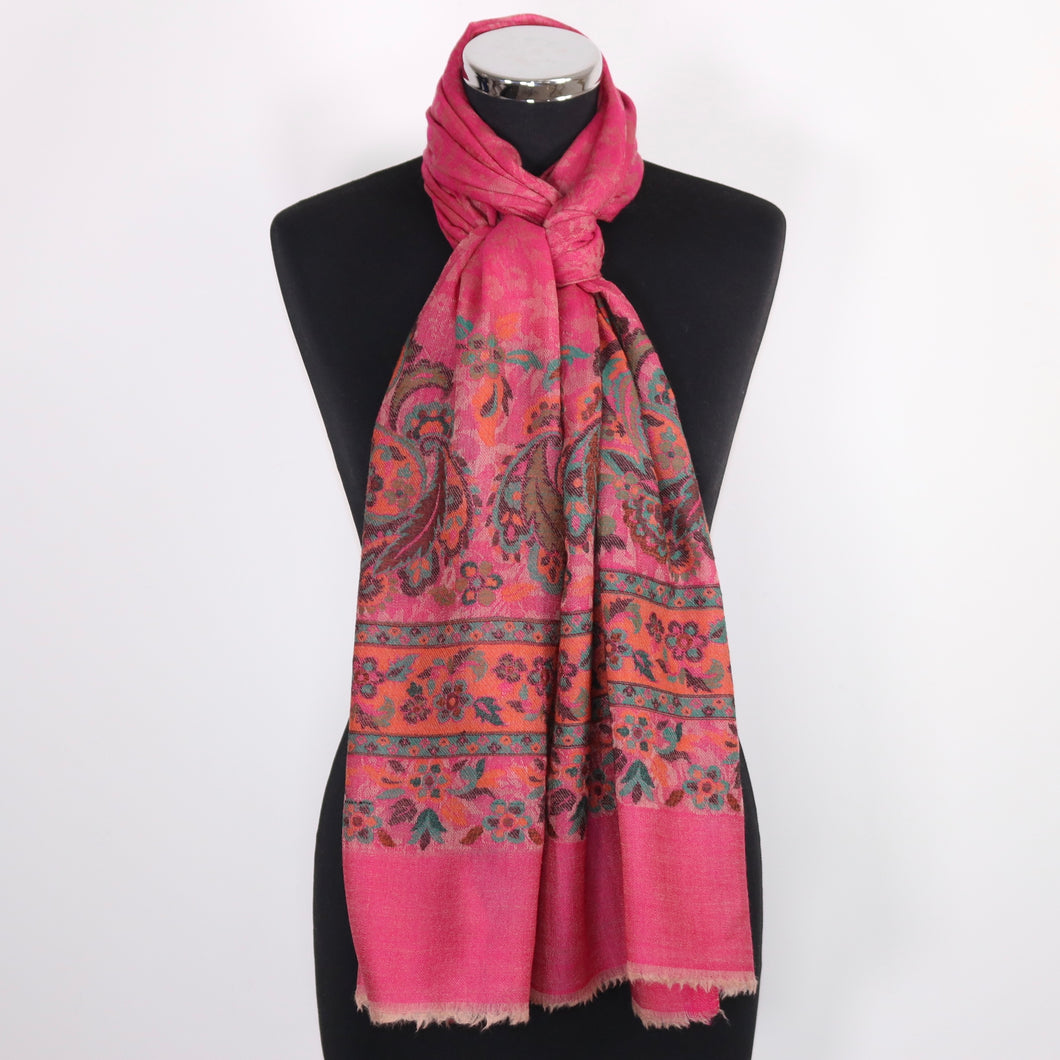 Cashmere Scarf With Embroidery