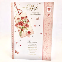Red Roses Wife Anniversary Card