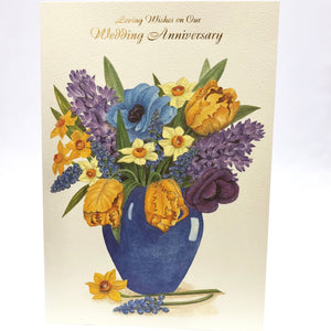 On Our Anniversary Flowers Card