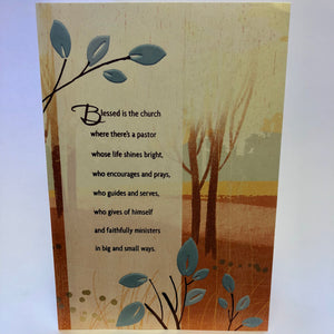 Pastor Thank You Card