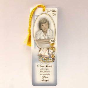 Holy Communion Boy Blessing Bookmark