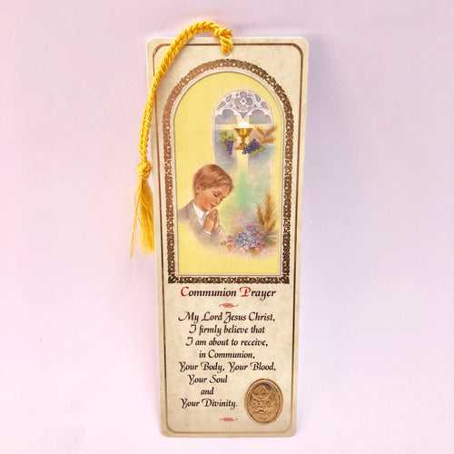 Communion Prayer Boy Bookmark