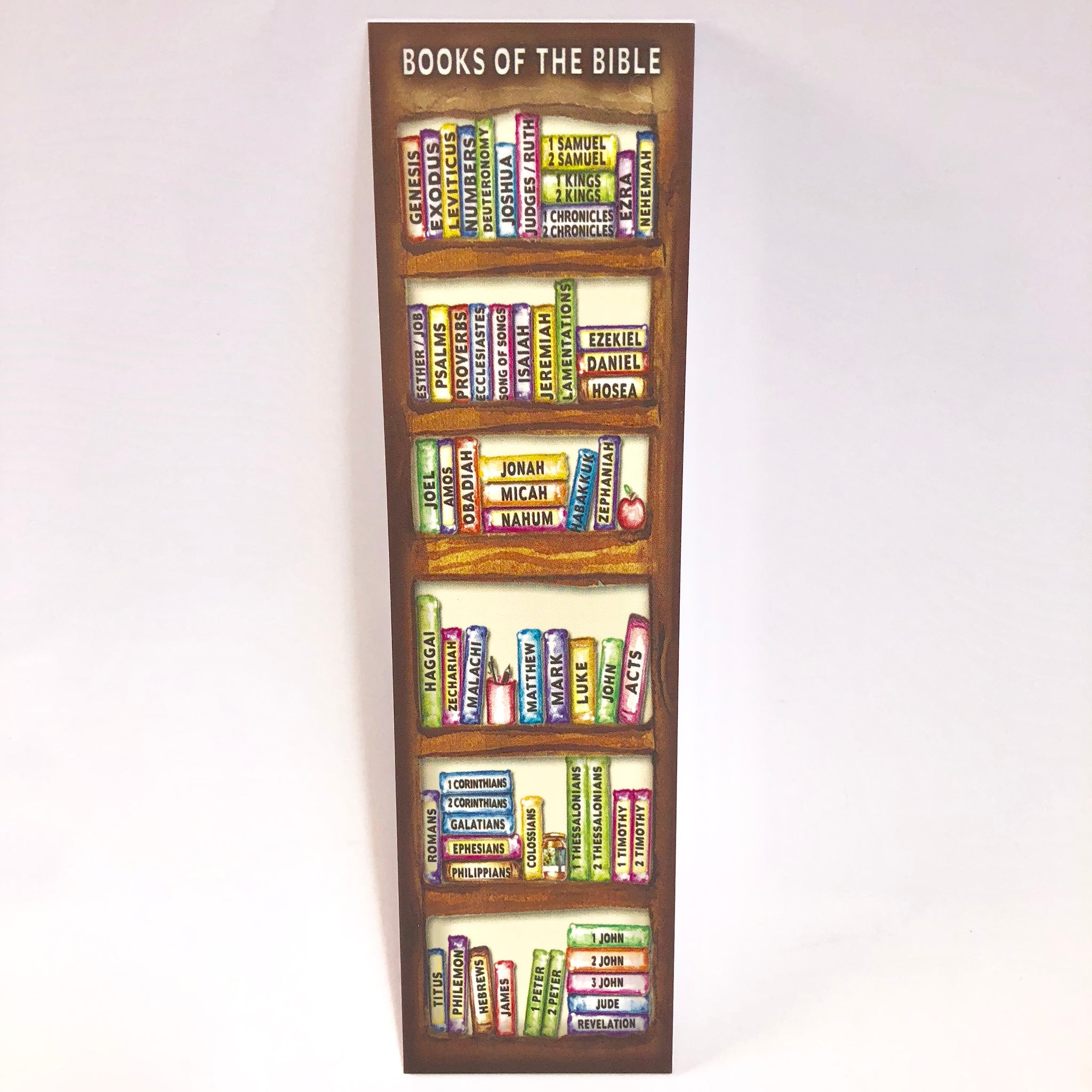 Books Of The Bible Bookshelf Bookmark