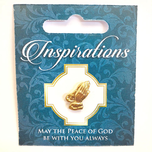 Inspirations Praying Hands Pin