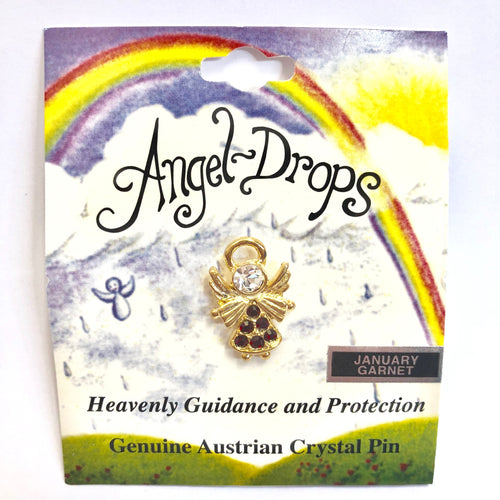 Angel Drops Birth Stone Pin