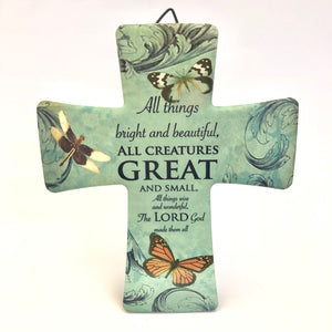 Quote Wall Cross Decoration