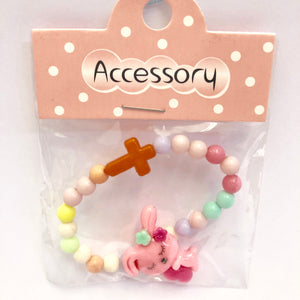 Childs Colourful Cross Bracelet