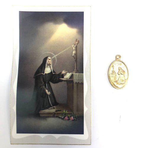 St Rita Prayer Card & Medal