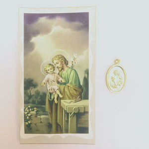 St Joseph Prayer Card & Medal